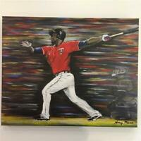 "Miguel Sano Minnesota Twins Original Painting Canvas Print 16""x20"" Amy Marie Art"