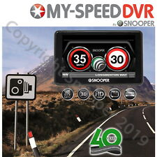 Snooper My-Speed DVR Europe GPS Speed Camera/Limit Alert Detector HD Dash Cam