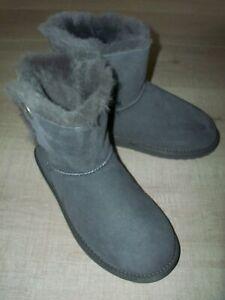 EMU ORE Australian Sheepskin Boots Size UK 8 Charcoal - Worn Once