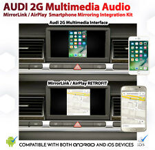 Audi A8 D3 2G MMi android iOS AirPlay MirrorLink Google Apple GPS Install Kit