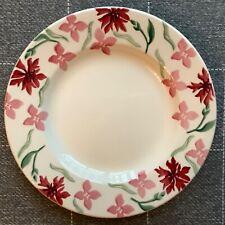 "EMMA BRIDGEWATER . Pink Cornflower . 8-1/2"" PLATE . Flowers spongeware"