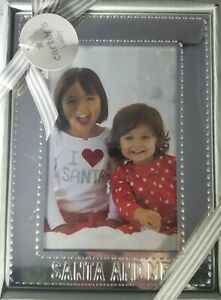 "Carter's baby ""SANTA AND ME"" 3.5"" X 5.5"" Silver Picture Frame"