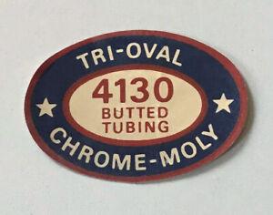 The Sting Tri Oval Chrome Moly original NOS sticker Schwinn BMX decal