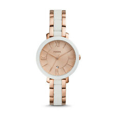 FOSSIL Women Jacqueline Three-Hand Date Rose Gold-Tone Stainless St Watch ES4588