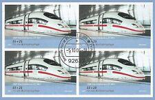 B.2 - BRD Bund MH 64 Mi.2567 4x Eisenbahn ICE 2006 EST Weiden i.d. Opf. LUXUS!