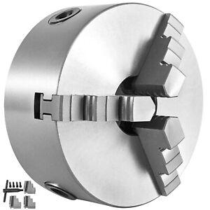 "K11-80 Lathe Chuck 3"" 3 Jaw 4000r/min Wood Turning External Jaw 80mm Manual"