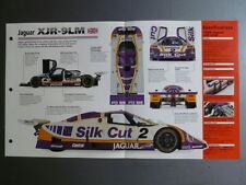 """1988 Jaguar XJR-9LM IMP """"Hot Cars"""" Spec Sheet Folder Brochure 7-20 Awesome L@@K"""