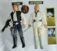 12' 1:6 Star Wars Luke Skywalker Lighsaber Action Han Solo Quick Draw Kenner