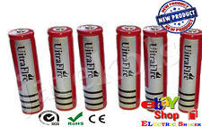 2x HY 18650 6800mAh 3.7V UItraFIrc Cells Rechargeable Batteries for FLASHLIGHT