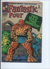 """FANTASTIC FOUR 51 - VG 4.0 - """"THIS MAN... THIS MONSTER"""" CLASSIC STORYLINE (1966)"""
