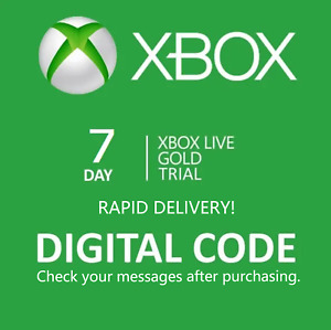 Xbox Live 7 Day Gold Trial Membership Code