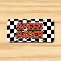 Speed Racer License Plate Vehicle Auto Tag Tuner Import Drift Racing FREE SHIP