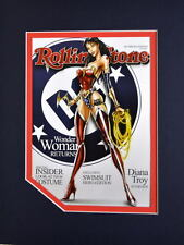 WONDER WOMAN ROLLING STONE COVER PRINT PROFESSIONALLY MATTED Jamie Tyndall