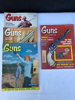Vintage Lot of 4 Guns magazines from 1960 & 1971