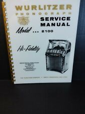 Wurlitzer 2100 Jukebox Service Manual *Read - lots included* (Amr Deluxe Book)