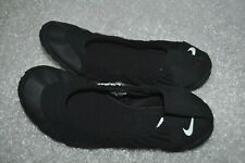 Nike Studio Wrap Ballet Flat Yoga Athletic Black Women's 12 Shoes Slip On Casual