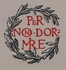 D'annunzio  lettera con motto e fotocopie