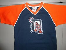 Blue SEWN Vintage True Fan MLB Detroit Tigers Baseball Jersey Youth S Excellent