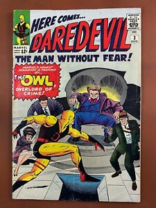 Daredevil #3 Marvel Comics 1st appearance of the Owl Silver Age