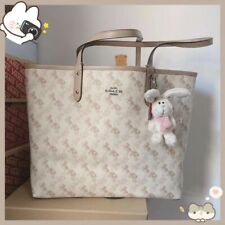 NWT Coach Reversible City Tote With Horse And Carriage cream Multi 91107