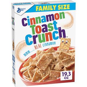 Cinnamon Toast Crunch, w/ Whole Grain, 19.3 oz