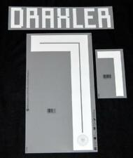 Germany Draxler 7 world cup 2018 Football Shirt Name/Number Set Player Size Away