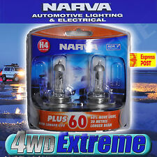 NARVA H4 GLOBES PLUS 60 LONG LIFE BULB 12V 60/55W 48872BL2 LIGHTS HEADLIGHTS T10