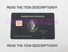2020 Style American Black Centurion Express Card - Titanium Metal - Customize it
