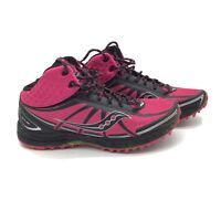 Saucony Women Shoe Progrid Outlaw Size 9 Black  Pink Sneaker Pre Owned