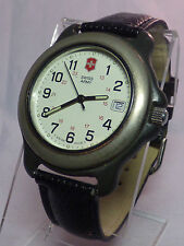 SWISS ARMY WATCH Gray Silver Face Officer Bezel L@@K WORKS