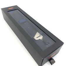 Tumi Accent Kit Custom Shoulder Strap Blue Black Leather Stripe Silver Hardware