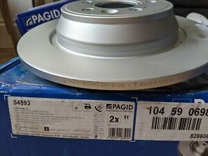 PAGID 54593 Pair Rear Brake Discs Ford Kuga I 08- Range Rover Evoque (LV) 11-