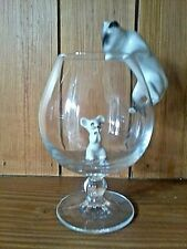 """""L@@K"""" CAT & MOUSE BRANDY GLASS SET COMES IN BOX WITH #FREE P&P#"