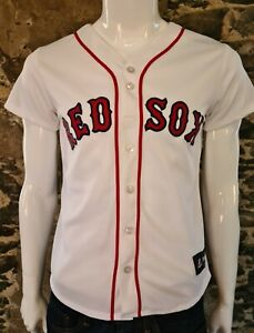 Boston Red Sox Baseball Shirt White Size Medium Childs / Ladies              248