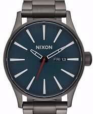 $250 NWT Nixon Men's A356-2340-00 Quartz Stainless Steel  Automatic Grey Watch