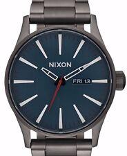 $250 NWT Nixon Men's A356-2340-00 Quartz Stainless Steel  Automatic Grey Watch