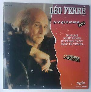 LEO FERRE - ALBUM PROGRAMME PLUS ♦  LP 33 Tours - Jean-Roger Caussimon