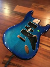 Fender Blue Burst Flame Maple Top Player Strat Stratocaster Body 2 Point