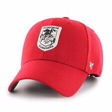47 Brand NRL St George Dragons Adult MVP Cap Hat (Red) **VERY HIGH QUALITY**