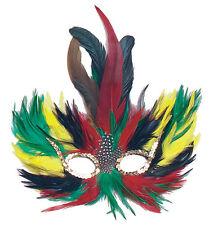 Feder Maskerade Carnivale bunt NEU - Karneval Fasching Maske Gesicht