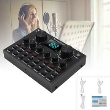 V8 Plus Bluetooth 4.1 Audio Microphone Webcast Live Sound Card w Screen Display