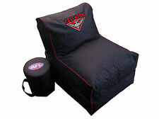 Essendon Bombers AFL Large Foldable Lounge Bean Bag Chair With Cooler New
