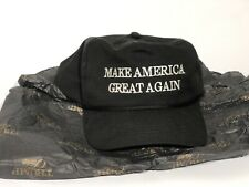 More details for official trump maga make america great again hat black authentic