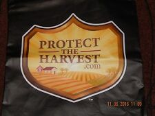 PROTECT THE HARVEST .COM ECO BAG REUSABLE BACKPACK BLACK DRAWSTRING CLOSURE NEW