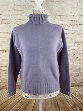Great Northwest Sweater Pullover Turtleneck Petite M PM Lavender Lambswool EUC