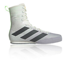 adidas Mens Box Hog 3 Boxing Shoes Grey Sports Breathable Lightweight