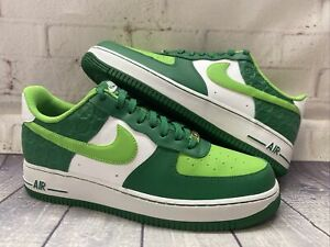 Nike Air Force 1 '07 Shamrock St Patrick's Day Shoes DD8458-300 Men's Size 10