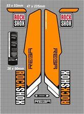 ROCK SHOX REBA FORK / SUSPENSION DECAL SET ORANGE