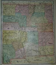 New ListingRare Vintage 1899 Atlas Map ~ New Mexico Territory ~ Old & Authentic ~ Free S&H