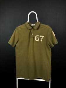 Ralph Lauren 67 Vintage Military Green Polo Shirt Size M